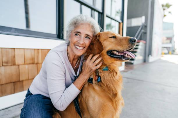 Pet and me - health habits stock photo