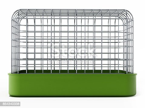 Pet cage isolated on white.