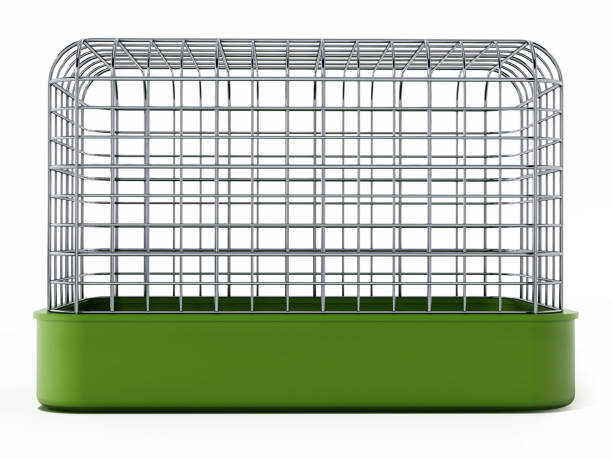 pet cage isolated on white - animals in captivity stock pictures, royalty-free photos & images