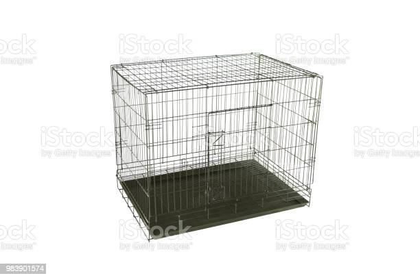 Pet cages made from steel and cages can fold able on isolated white picture id983901574?b=1&k=6&m=983901574&s=612x612&h=ev41arr8avbosw gzexatmt43hi8fbbck0rktqnfsrg=