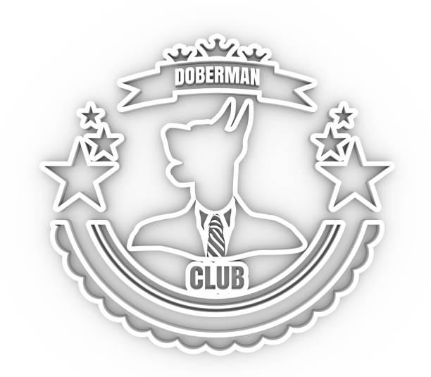 Pet emblem design. stock photo