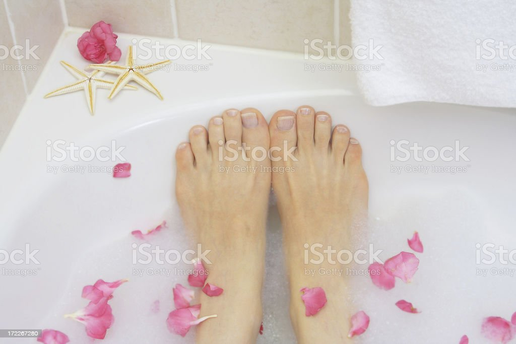 petals at bathtime royalty-free stock photo
