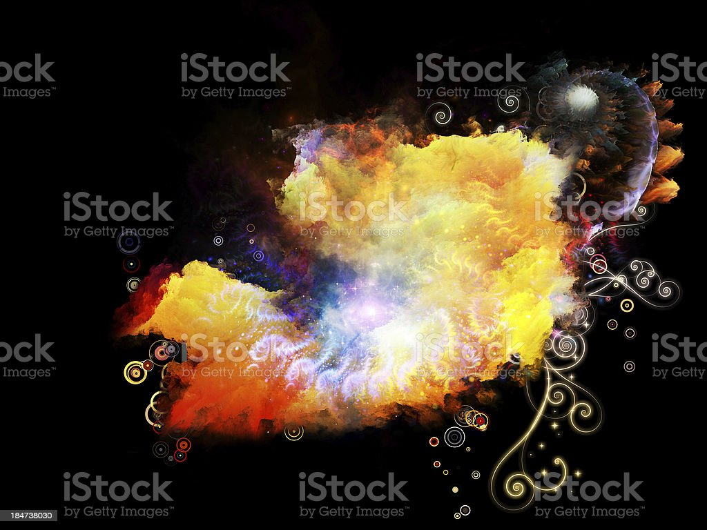 Petals of Design Nebulae royalty-free stock photo