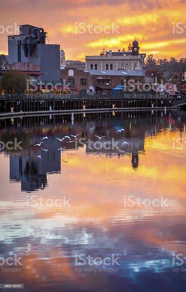 Petaluma Sunset stock photo