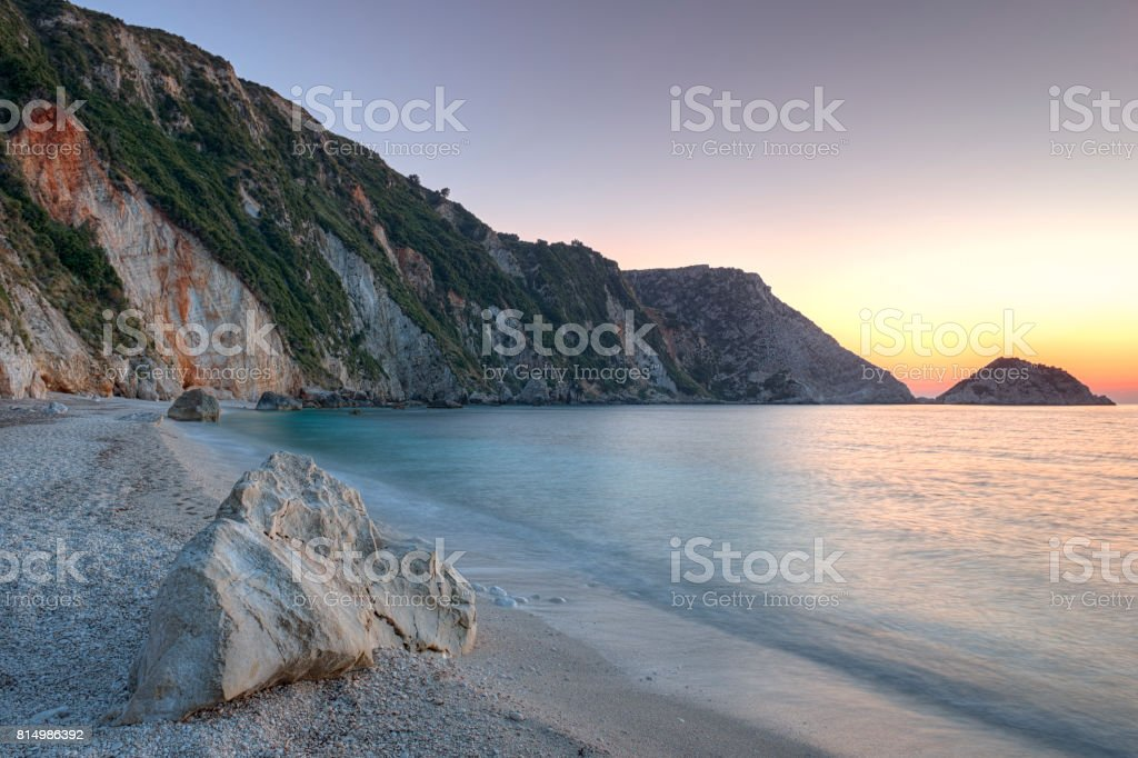 Petani beach, Kefalonia, Greece stock photo