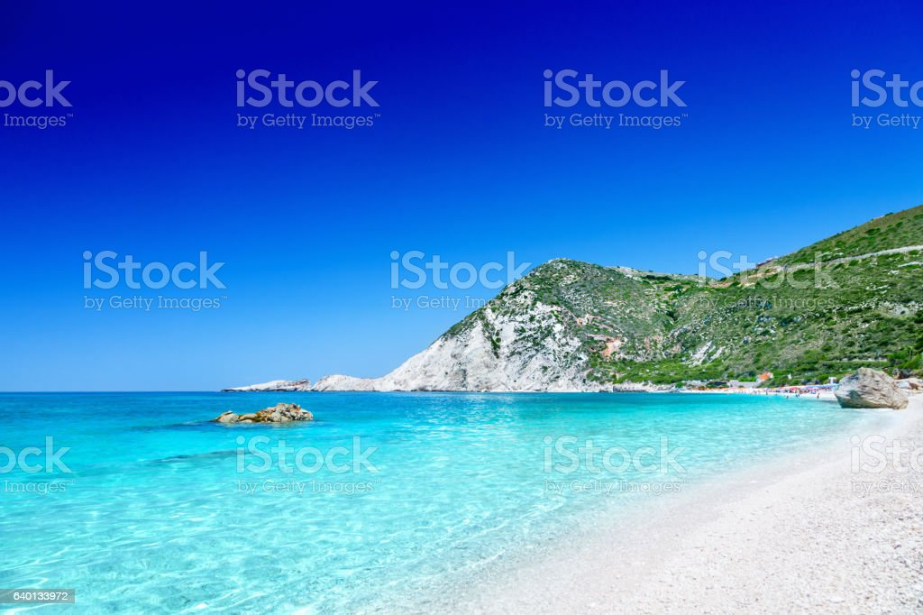 Petani beach stock photo