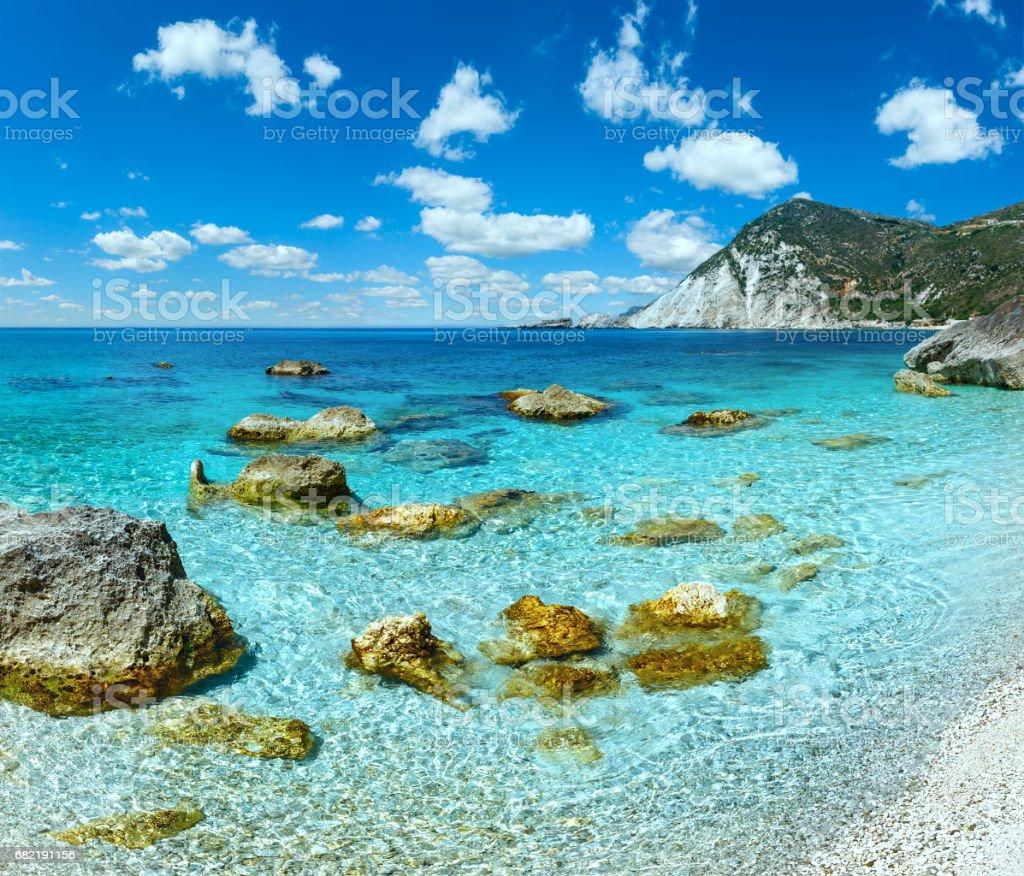 Petani Beach (Kefalonia, Greece). stock photo