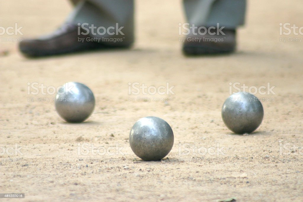 Petanque, French ball game stock photo