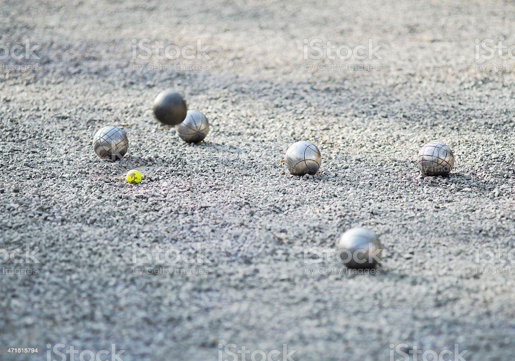 Petanque Game Balls stock photo