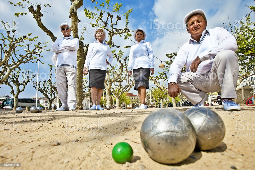 petanque gang stock photo