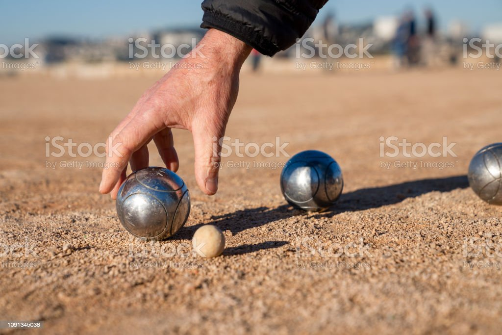 Petanque, French balls game - Perfect template with space to insert...