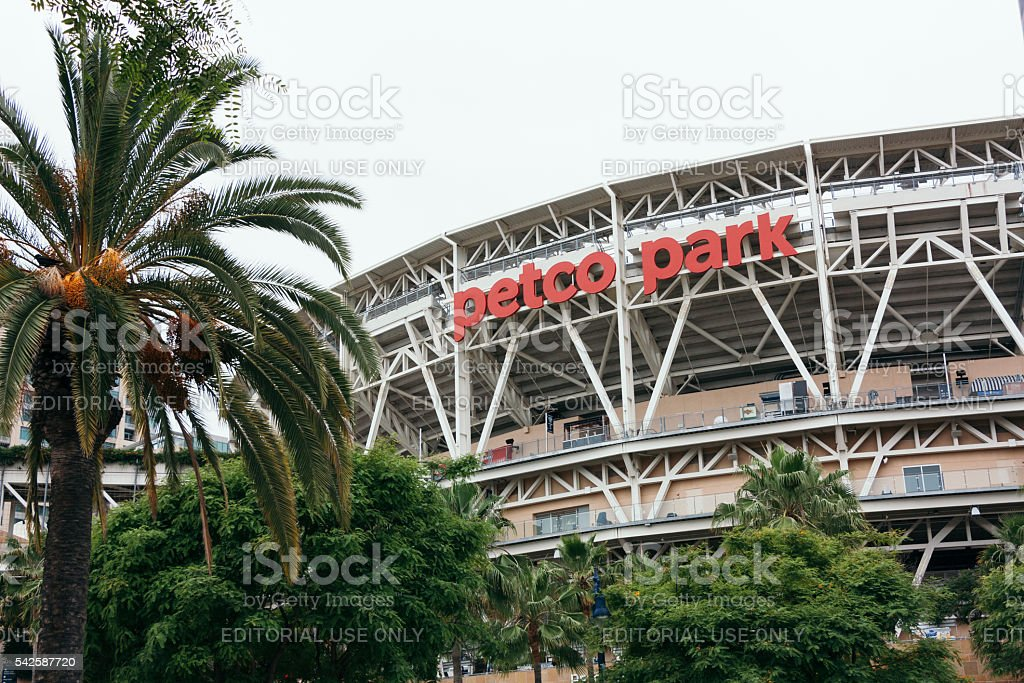 Petco Park in Downtown San Diego stock photo