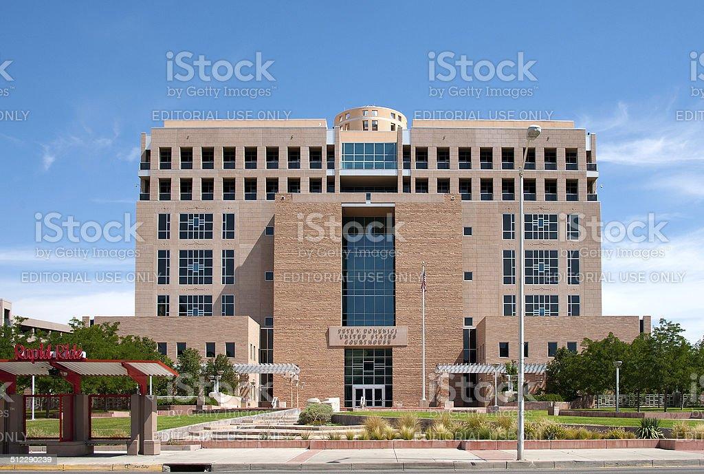 Pete Domenici United States Courthouse in Albuqueruqe stock photo