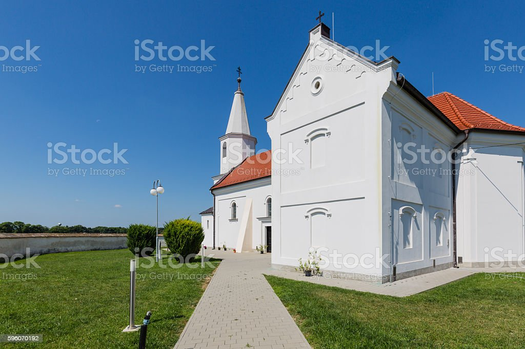 Peter and Paul Church in the village Pac, Slovakia royalty-free stock photo