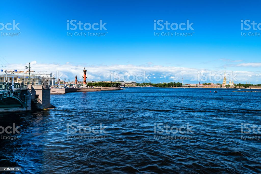 Peter and Paul Fortress in St.Petersburg stock photo