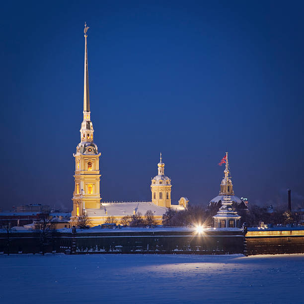 peter and paul fortress - peter and paul cathedral bildbanksfoton och bilder