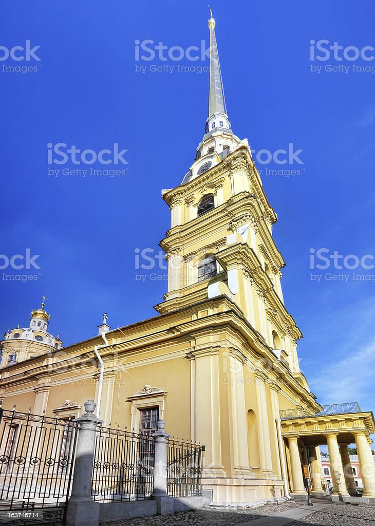 Peter and Paul Fortress. Saint-Petersburg royalty-free stock photo