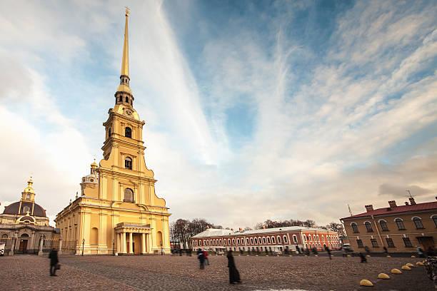 Peter y Paul fortaleza, St. Petersburg, Rusia - foto de stock