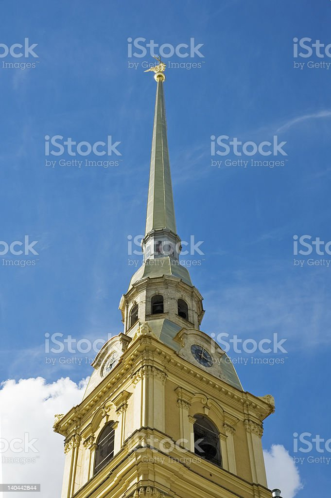 Peter and Paul fortress, the symbol of Saint Petersburg, Russia royalty-free stock photo