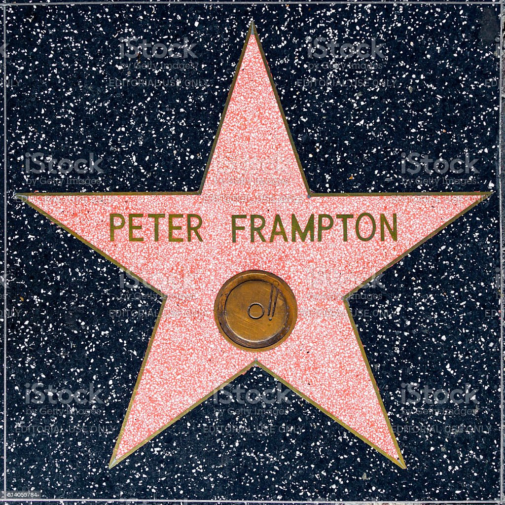 Peter Frampton's star on Hollywood Walk of Fame stock photo