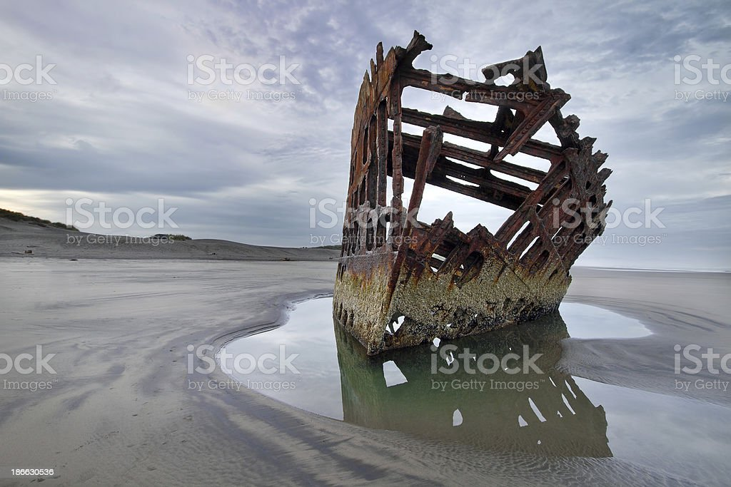 Peter Iredale at Dawn stock photo