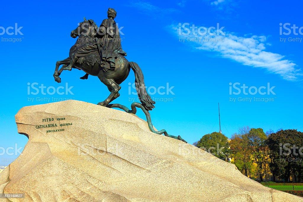 Peter the Great - Bronze Horseman in St. Petersburg, Russia stock photo