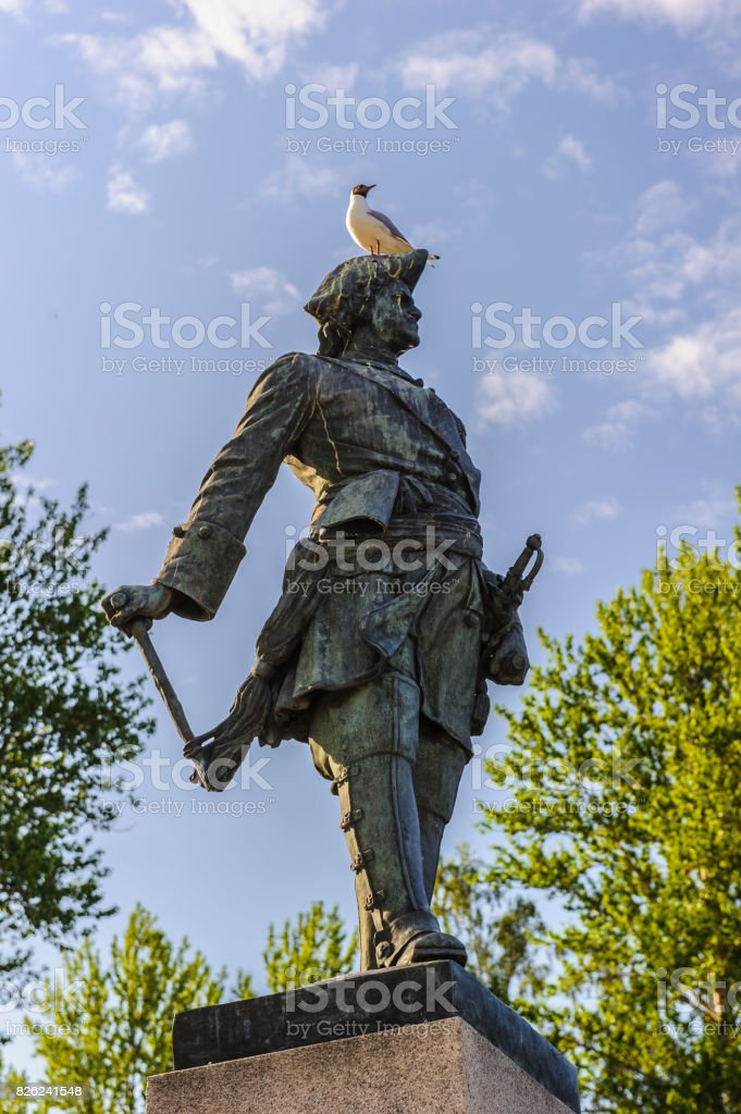 Peter the Great monument stock photo