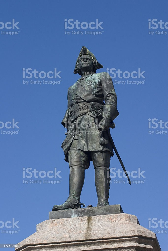Peter the Great stock photo