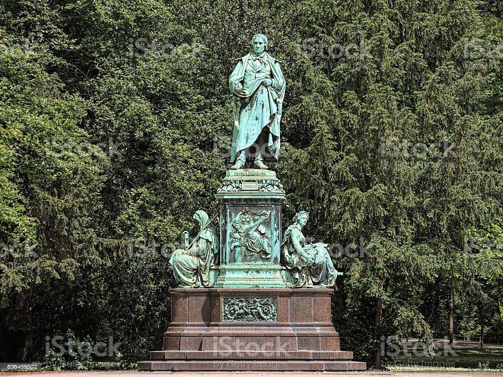 Peter von Cornelius Monument in Dusseldorf, Germany stock photo