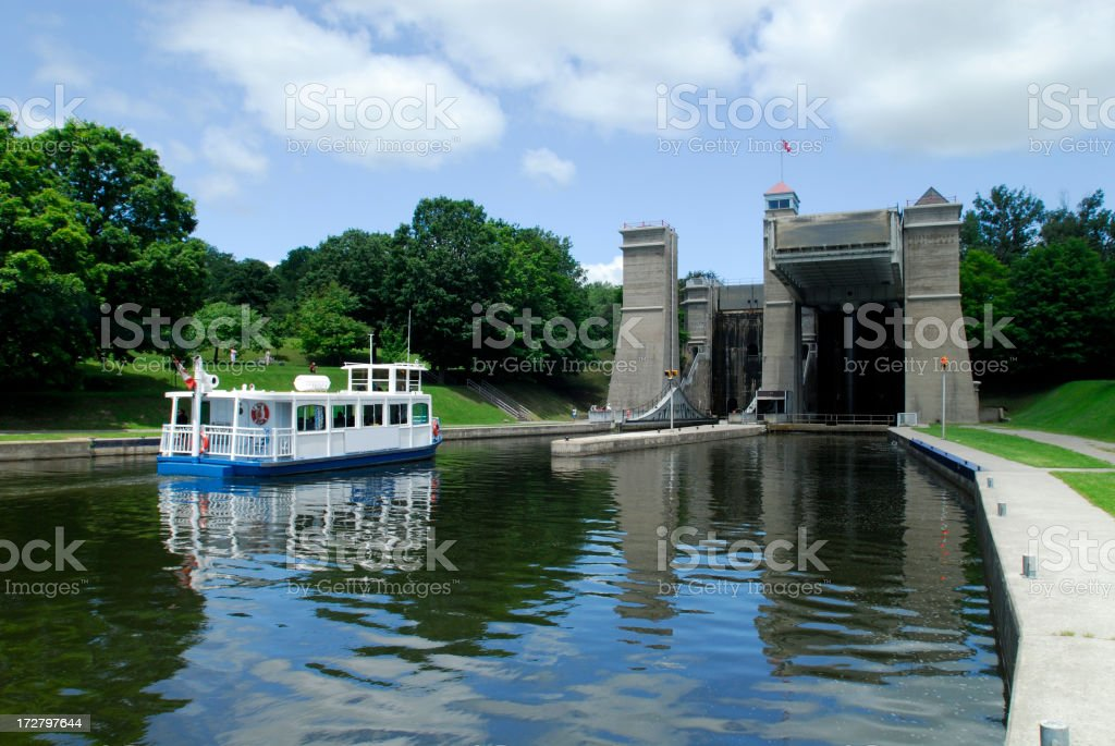Peterborough Liftlock royalty-free stock photo