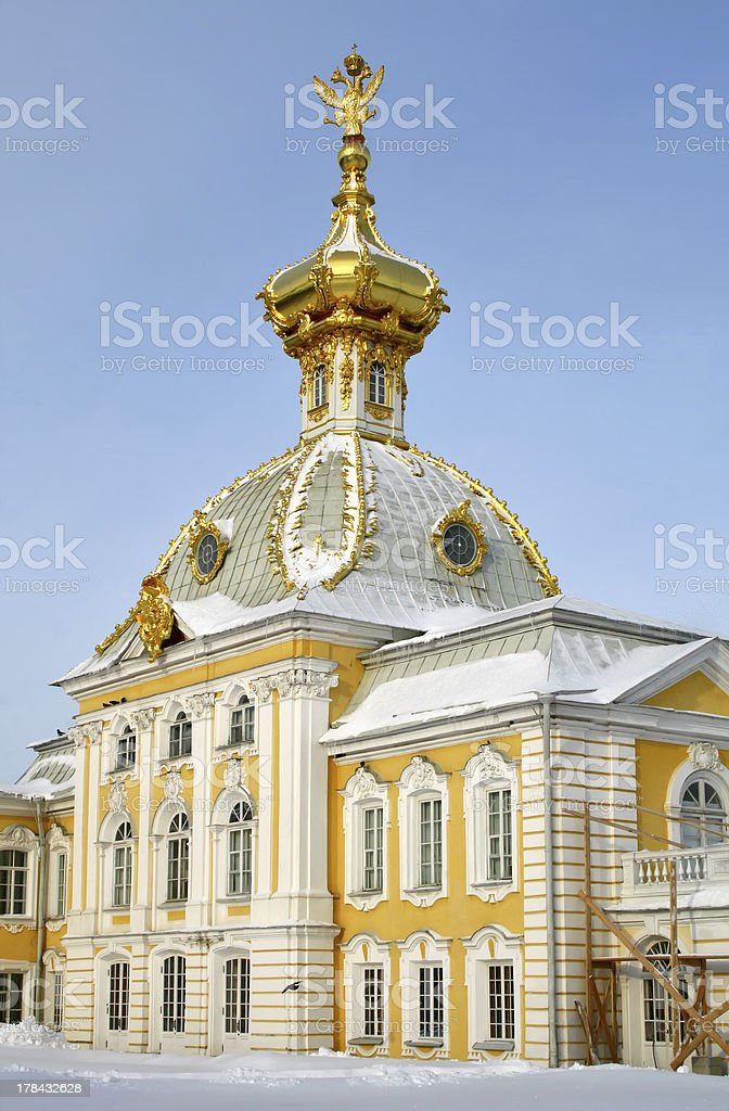 Peterhof Palace in Saint Petersburg royalty-free stock photo