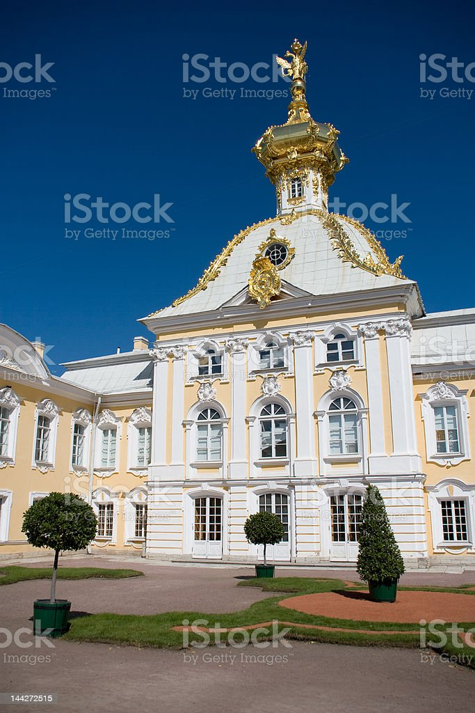 Peterhof Palace in St. Petersburg. stock photo