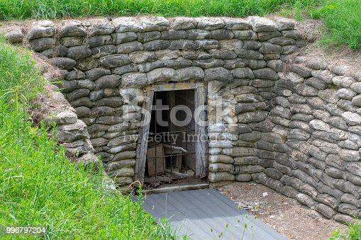 Trenches and fortifications located at Petersburg National Battlefield in Virginia.  The final campaign of the American Civil War.