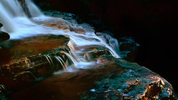 Peterskill Falls Glow stock photo