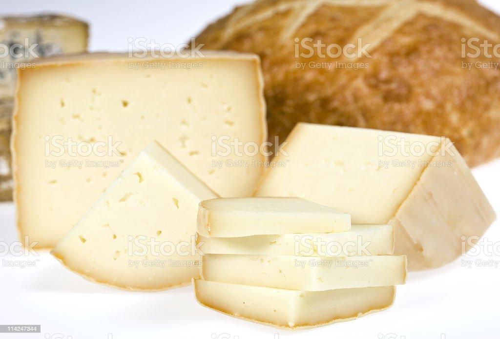 Petit Basque Cheese royalty-free stock photo