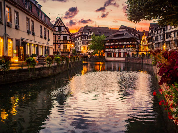 petit france in strasbourg - aluxum stock pictures, royalty-free photos & images