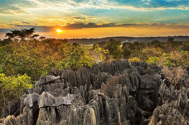 Petit Tsingy sunset excursion stock photo