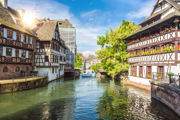 Petite France in Strasbourg Petite France in Strasbourg strasbourg stock pictures, royalty-free photos & images