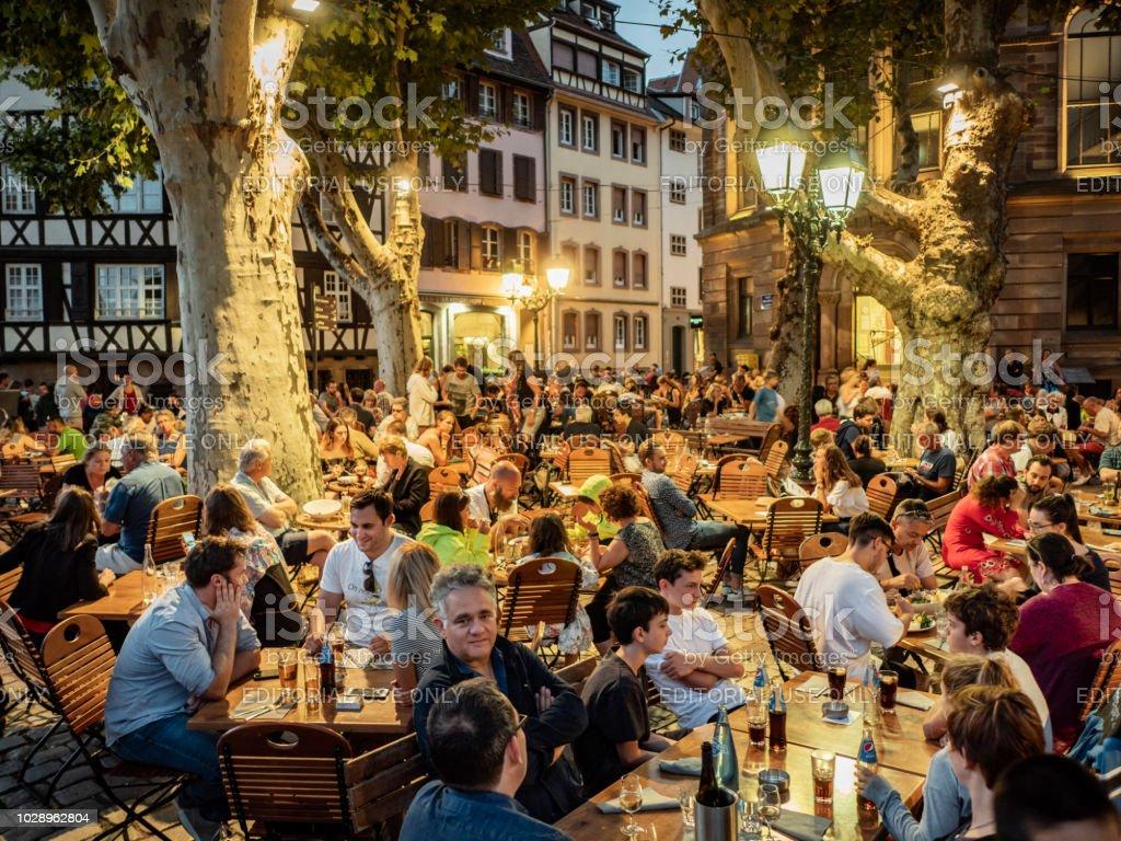 Petite France Strasbourg France stock photo