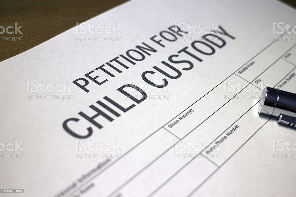 Petition for child custody stock photo