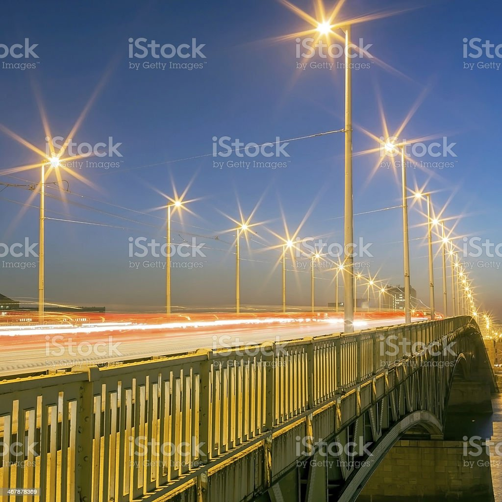 Petofi Bridge in Budapest royalty-free stock photo