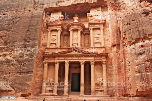 Petra Al Khazneh - the Treasury in the ancient town of Petra