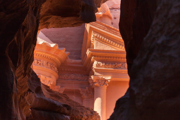 Petra ancient city, Jordan stock photo