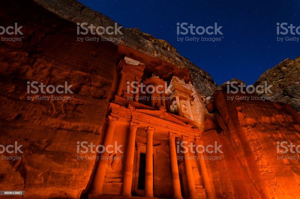 Petra tarafından gece royalty-free stock photo