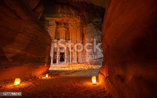 Petra by Night - The Treasury