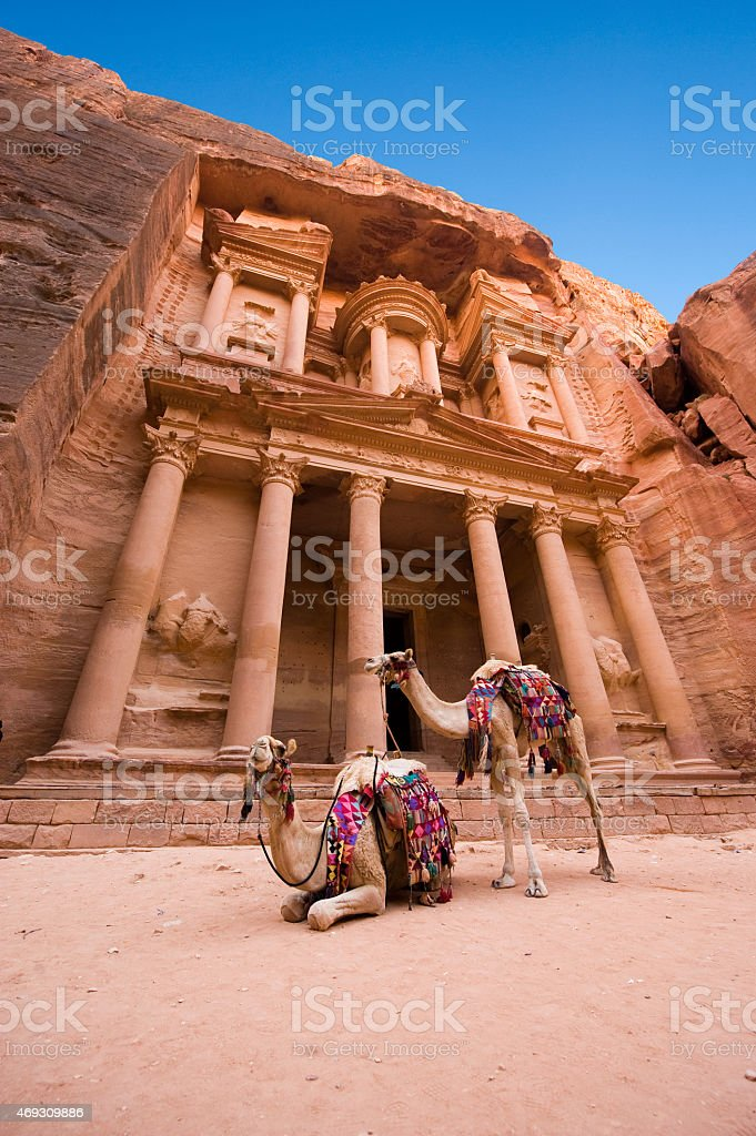 Petra in Jordan stock photo