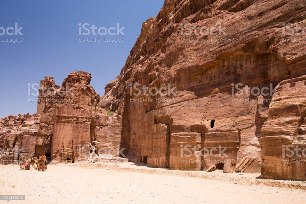 Petra in Jordan royalty-free stock photo