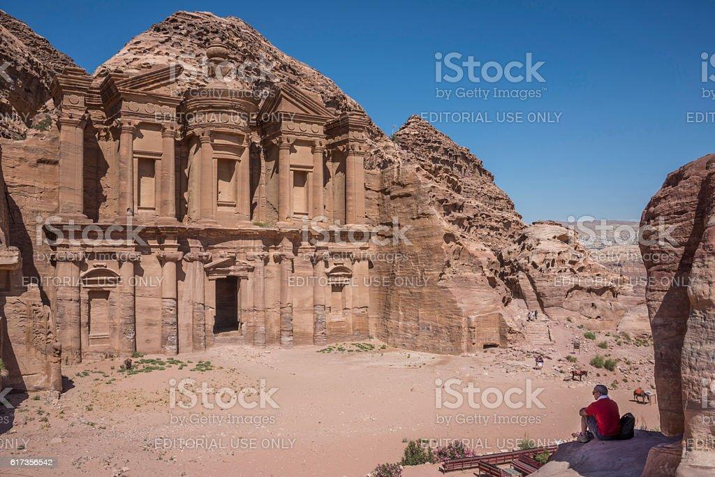 Petra monasterio - foto de stock