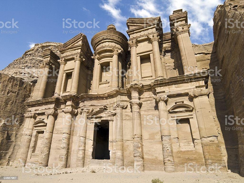 Petra Monastery royalty-free stock photo