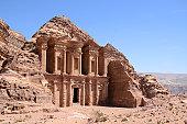 Monastery in Petra (Jordan).